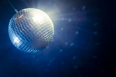 Disco ball with copy space Royalty Free Stock Image