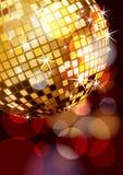 Disco ball corner. Golden disco ball corner, eps10  illustration Stock Image