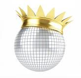 Disco ball crown. Queen of disco (disco ball crown stock illustration