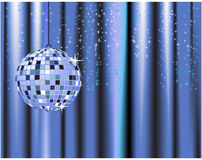 Disco ball, curtains, celebrat Royalty Free Stock Images