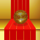 Disco ball on 3D Step Royalty Free Stock Images