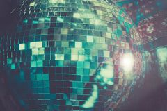 Disco Ball dance party background stock images