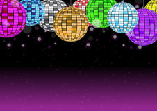 Disco ball on dark pink background vector illustration. Rgb mode Royalty Free Stock Photography