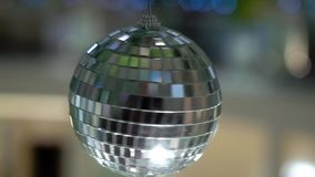 Disco ball decorated. Party celebration stock footage