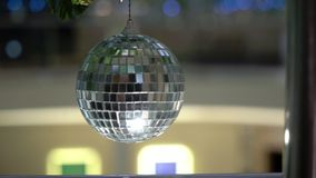 Disco ball decorated. Party celebration stock video footage
