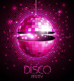 Disco ball. Disco background. Disco ball. Disco neon background Royalty Free Stock Photo