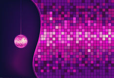 Disco ball. Disco background. Disco ball. Abstract Disco background royalty free illustration