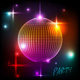 Disco ball. Disco background. Abstract Disco ball. Disco background Stock Photos
