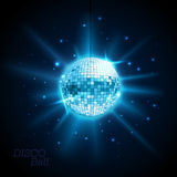 Disco ball. Disco background. Disco ball. Disco blue background Royalty Free Stock Image