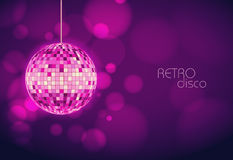 Disco ball. Disco background Royalty Free Stock Photography
