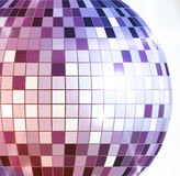 Disco ball. Disco background. Disco ball. Disco decorative background Stock Photography