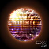Disco ball. Disco background. Golden Disco ball. Disco background Royalty Free Stock Photo