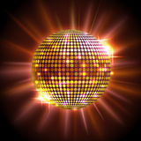 Disco ball. Disco background. Golden Disco ball. Disco background Stock Photo