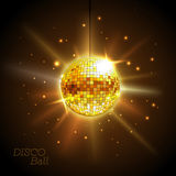 Disco ball. Disco background. Golden Disco ball. Disco background Stock Photography
