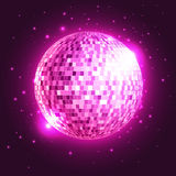 Disco ball. Disco background. Disco ball. Disco neon  background Stock Photography