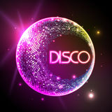 Disco ball. Disco background. Disco ball. Disco neon background Stock Images
