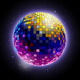 Disco ball. Disco background. Disco ball. Disco neon background Royalty Free Stock Photography