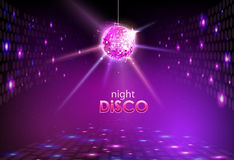 Disco ball. Disco background. Disco ball. Disco neon background Stock Photos