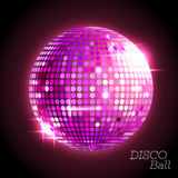 Disco ball. Disco background. Pink Disco ball. Disco background Royalty Free Stock Photos