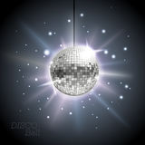 Disco ball. Disco background. Silver Disco ball. Disco background Stock Images