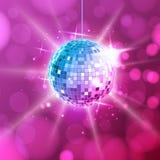 Disco ball. Disco ball pink background. Disco ball. Disco ball on pink background stock illustration