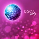 Disco ball. Disco ball pink background. Disco ball. Disco ball on pink background vector illustration