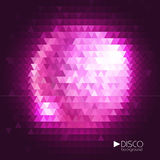 Disco ball. Disco mosaic background Stock Photo