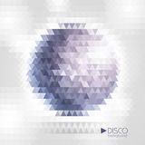 Disco ball. Disco mosaic background Royalty Free Stock Image
