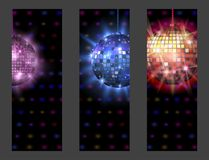 Disco ball discotheque card music party night club dance equipment vector illustration. Disco ball discotheque card dance music party equipment vector Royalty Free Stock Photography