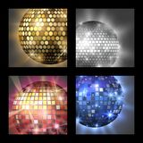 Disco ball discotheque card music party night club dance equipment vector illustration. Disco ball discotheque card dance music party equipment vector Royalty Free Stock Image
