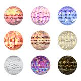 Disco ball discotheque music party night club dance equipment vector illustration. Disco ball discotheque dance music party equipment vector illustration. Shiny Royalty Free Stock Images
