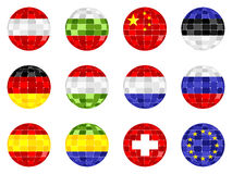 Disco ball flags Royalty Free Stock Photography