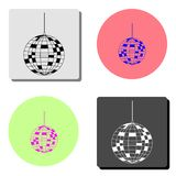Disco ball. flat vector icon vector illustration