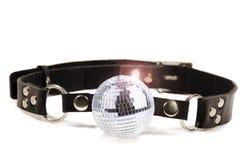 Disco ball gag. Isolated on white background stock photo