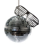 Disco ball with glasses stock photos