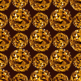 Disco ball. Gold seamless background. Royalty Free Stock Photo