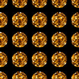Disco ball. Gold seamless background. Royalty Free Stock Photos