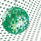 Disco ball green stock photography