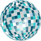 Disco ball in green tones isolated on white Royalty Free Stock Photo