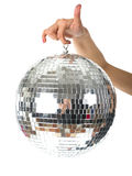 Disco Ball on hand Royalty Free Stock Images