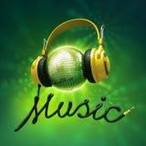 Disco ball headphones Stock Images