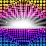 Disco-Ball-Hintergrund bedeutet helle Farben und Partei stock abbildung