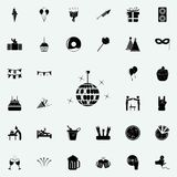 disco ball icon. Party icons universal set for web and mobile stock illustration