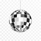 Disco ball icon. Symbol nightlife. Retro disco party. Vector illustration isolated on transparent background.  royalty free illustration