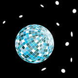 Disco ball illustration. Without transparency Royalty Free Stock Photos