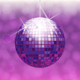 Disco ball isolated on gradient background. With light cloudy circles like bokeh effect Royalty Free Stock Image