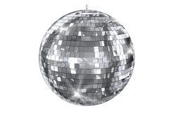 Disco Ball Isolated. On White. Elegant Shiny Disco Ball 3D Illustration Stock Images