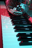 Disco ball and keyboard Royalty Free Stock Photos