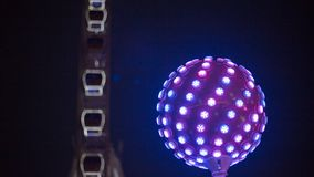 Disco ball light with blue color. In dark night is so shinny royalty free stock photos