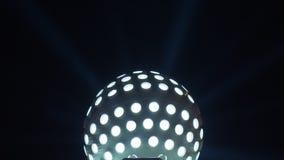 Disco ball light. In the dark stock video